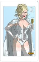 Emma Frost as the White Queen by WBreaux