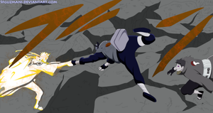 Naruto and kakashi Vs Obito/Tobi by Sfguzmani