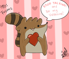 Rigby Valentine by leeleecalgirl