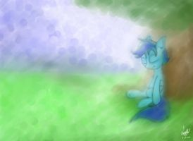 Party Frost sleeping under a tree - Painting by LuGiAdriel14