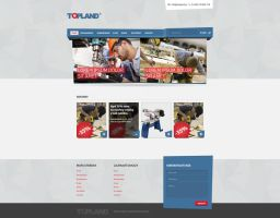 Topland tools manufacturer webdesign by djonas3
