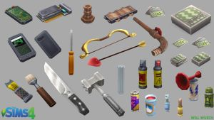 The Sims 4: Handheld Props by DeadXIII