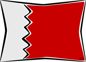 Bahrain flag by iAiisha