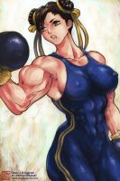 Chun-Li workout by MikazukiArt
