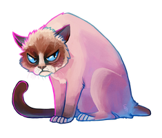 Grumpy Cat by SpaceSmilodon