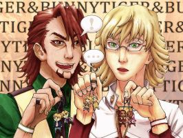 Tiger and Bunny: Keychains by squishtastic