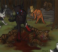 Death of Tigerstar by Onyxx9