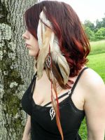 Feather hair clip #22 by BlackDemonFang
