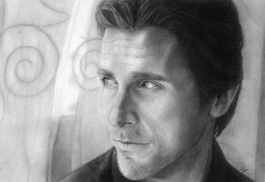 Christian Bale by Ellsi