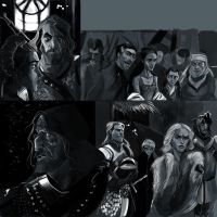 Game of Thrones Sketches 2 by kallielef