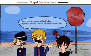 Stupid Laws: part 1- Lobsters by ask-NewYorkHetalia
