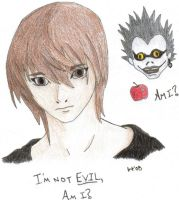 Light-Kira and Ryuk by ishtar-tiger