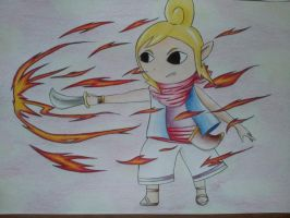 Tetra using Din's fire by Jenssiej