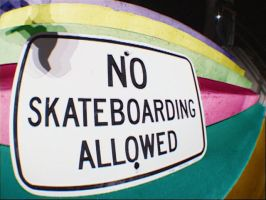 No skateboarding by ssbsts