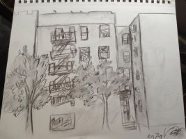 Building sketch by CremeCoco