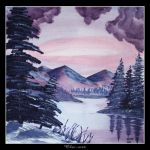 Winter Lake View by Clu-art