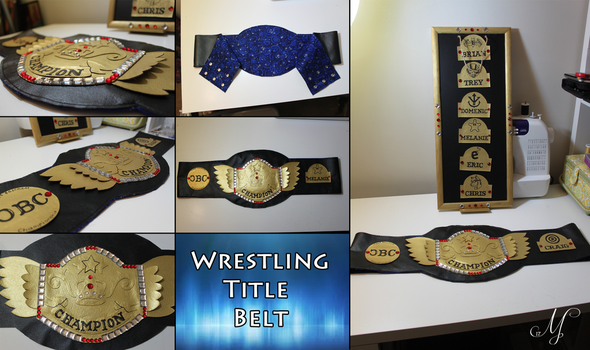 Wrestling Title Belt by SunsetSovereign