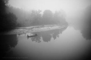 Wading through rivers fog II by SigitPutraSolo