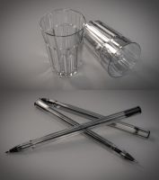 [Download] drinking glas and pen by Linolafett