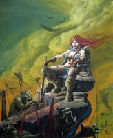 Red sonja OIL by imaginante