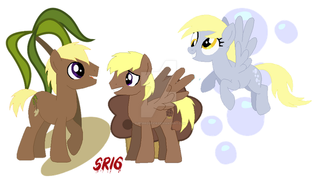Coco Crusoe x Derpy Hooves family cutie marks by SuperRosey16