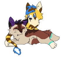 Blue and Zay by gone-from-deviantart