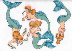 Random Mermaids by Vossy
