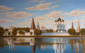 Monastery in summer by uvar