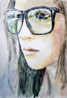 Girl In The Big Glasses by StefanRess