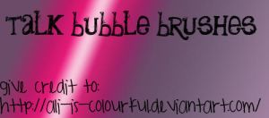talk bubble brushes. by ali-is-colourful