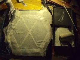 Making of my EXO shirt -2- by ailaahdo