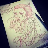 Tattooist Sketch by jessparry