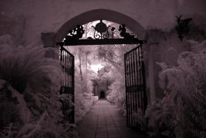 Spanish Monastery 1 of 6 BW by Solracezz
