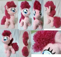 filly Pinkie Pie plushie, minky + curly fur, v 1 by Rens-twin