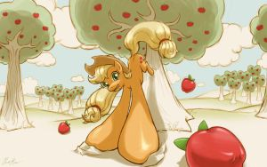 Apple Buckin' by cow41087