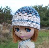 Blythe Hat in Country Blue by ChezMichelle