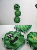Super Mario 2 Pokey bead sprite by 8bitcraft
