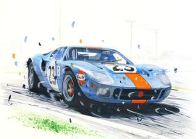 Ford GT40 sideways by klem