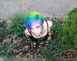 Rainbow Hair by UndercoverEnvy