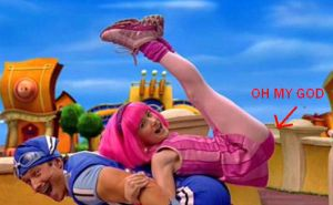 LazyTown's Panty Shot by KingofUndies