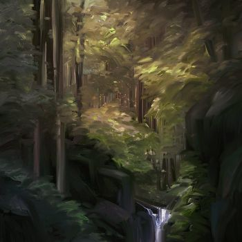 Afternoon Forest by allisonchinart
