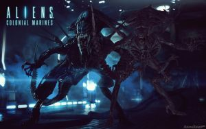 aliens CM queen by lordLKkamikaze