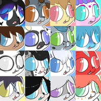 Batch 2 Derpsie Icons! by Lodidah