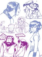 Tenzin and Korra purpleness by BehindtheVeil
