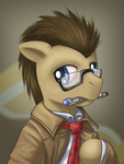 Doctor Whooves potrait by saturnspace