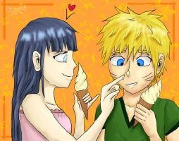 Naruhina - ice cream by Mila-Dream-Believer