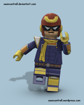 Lego Captain Falcon - F-Zero by seancantrell
