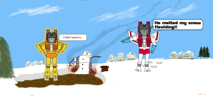 New Starscream and Sunny by loaves