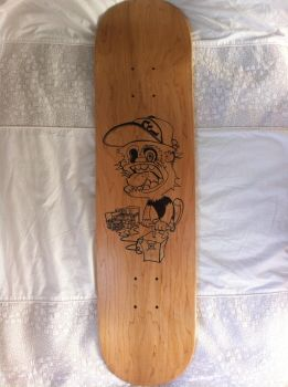 skateboard deck design outline by No-Name-01