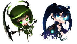 chibi Black Rock Shooter by junefeier